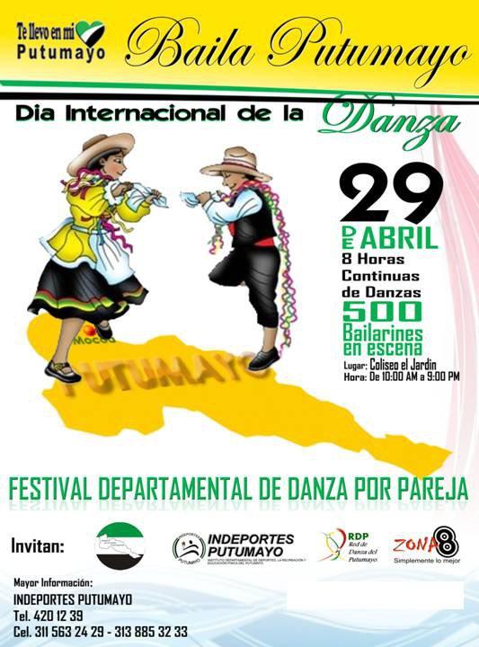 El Putumayo celebrará en grande el Día Internacional de la Danza