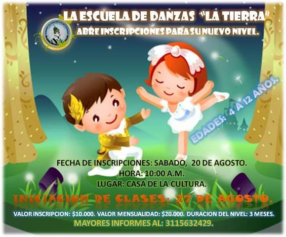 INSCRIPCION ESCUELA DE DANZAS 2011 2