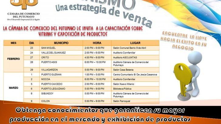 Cámara de Comercio del Putumayo organiza curso de Vitrinismo