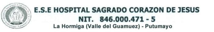 ESE Hospital Sagrado Corazón de Jesús – Valle del Guamuez