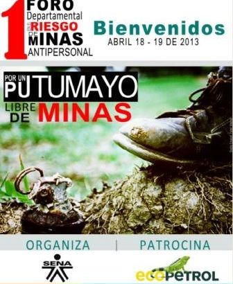 I Foro Departamental en el Riesgo de Minas Antipersonal, Municiones sin Explotar y Artefactos Explosivos Improvisados