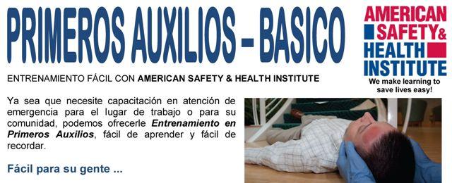 Aprenda Primeros Auxilios con los mejores. Certificación Internacional ASHI