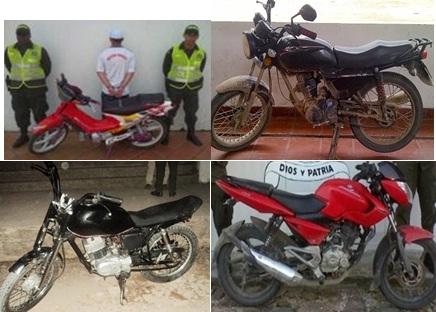 motos recuperadas en el putumayo.