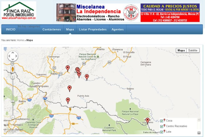 Portal Inmobiliario en LaGuiaPutumayo.com.co