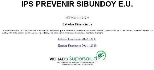 IPS Prevenir Sibundoy E.U.