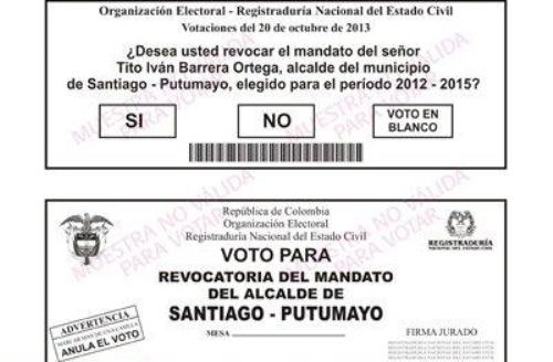 Lista la tarjeta electoral para que Santiago (P) decida si revocan o no el mandato de su alcalde
