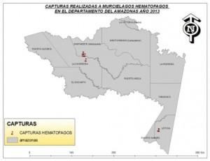 Departamento del Amazonas con sitios - visitados