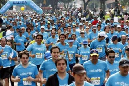 Bogotanos corrieron la Unicef 10K en pro de niños del Putumayo(Foto: Colprensa/ VANGUARDIA LIBERAL)