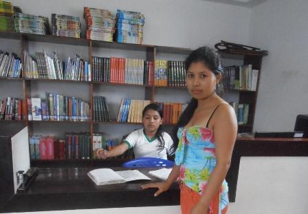La mediateca  está dotada de libros para la lectura de sus estudiantes.