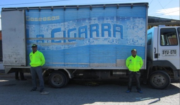 Recuperado camión hurtado en Villagarzón