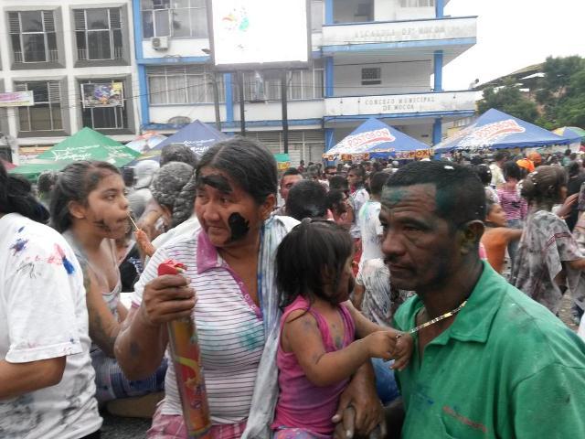 Día de Negritos en el Carnaval de Mocoa 2015