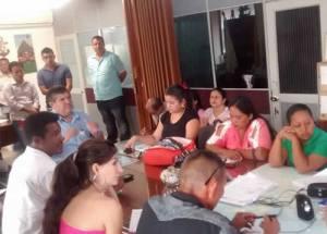 Jorge Coral Alcalde de Puerto Asu00EDs reunido con los    cabildos indigenas