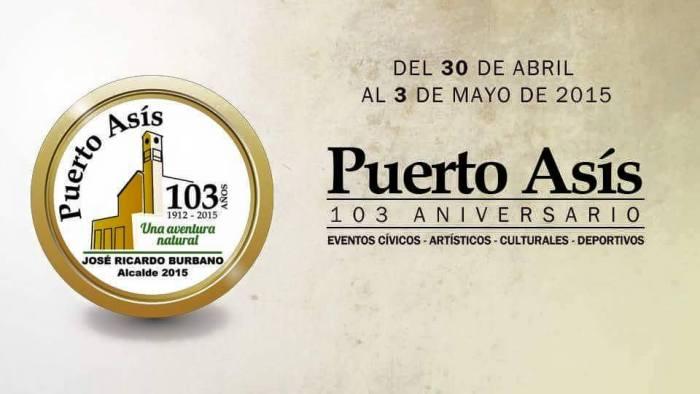 Programación de los 103 años del Municipio de Puerto Asís