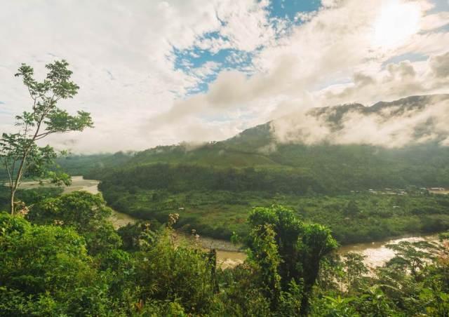 Foto 1: Rio Caquetá en su paso por el Resguardo Inga de Yunguillo, Mocoa, Putumayo