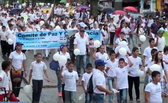En Orito, Marcha en rechazo a los atentados, derrames de crudo y contaminaciones ambientales