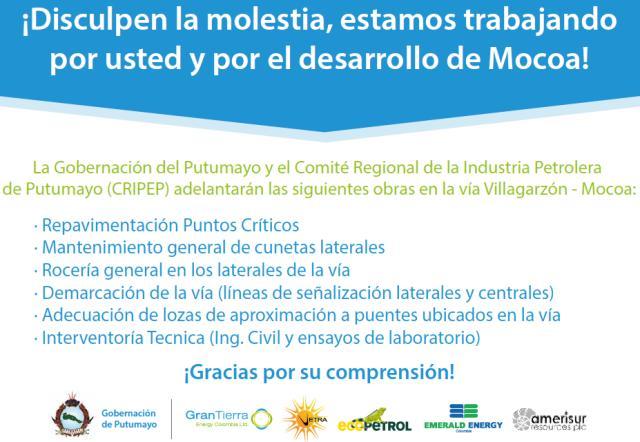 El CRIPEP, la Alcaldía de Mocoa y la Gobernación del Putumayo le aportan al desarrollo del Departamento