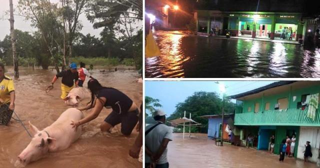 El pueblo que lleva inundado 15 días Foto: Vía @joarca2004 @PilarMontagut @joarca2004