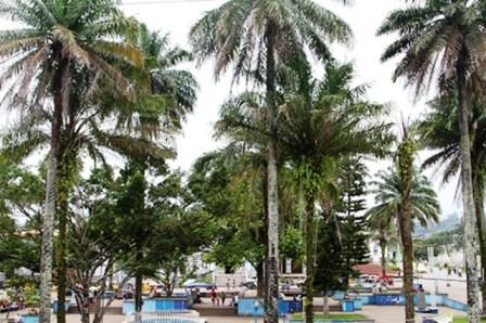 Parque Central de Mocoa en la actualidad.