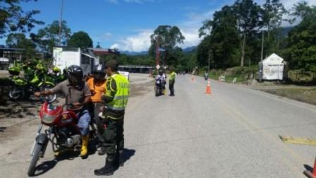 Controles en las vias del Putumayo.