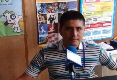 Periodista del Canal 2 de la Televisión en Mocoa Putumayo Mauricio Ramírez.