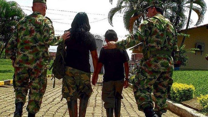 Menores de las Farc se desmovilizan en el Putumayo. Foto tomada de www.elpais.com.co