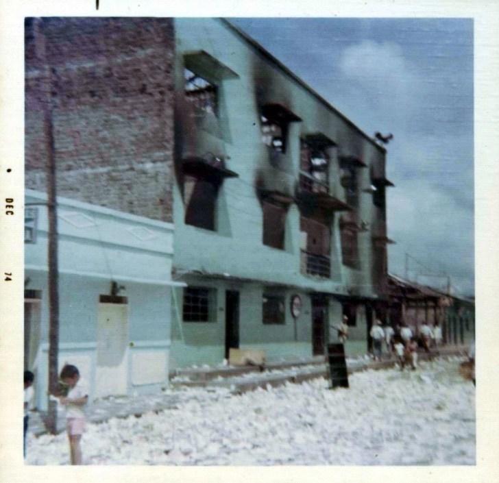 Edificio Alcaldía Municipal quemado. Puerto Asís