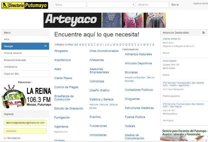 Anuncio GRATIS / Registro GRATIS en DirectorioPutumayo.com.co