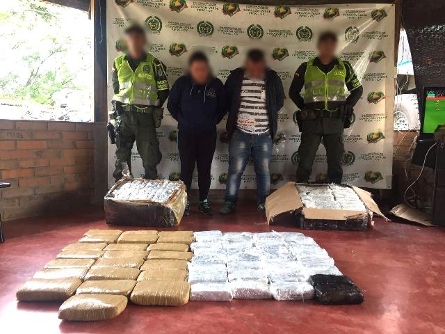 Incautado cargamento de 100 kg de marihuana en Mocoa