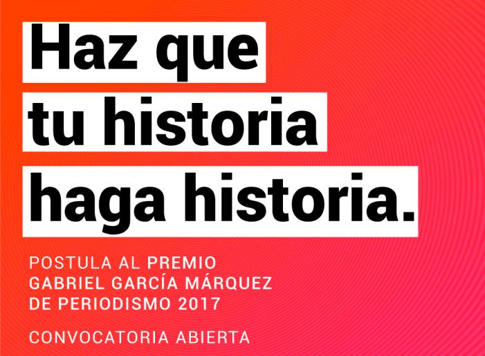 Postula a la quinta edición del Premio Gabo