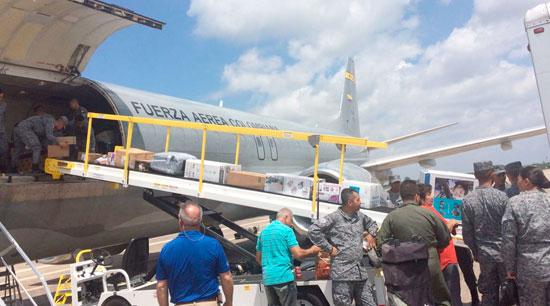 Fuerza Aérea traslada desde Estados Unidos ayuda humanitaria para Mocoa