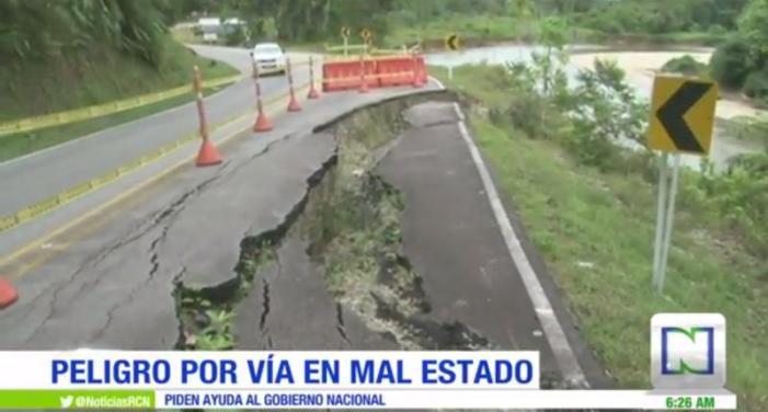 Carreteras colapsadas en Puerto Asís, Putumayo, no reciben mantenimiento desde hace dos años