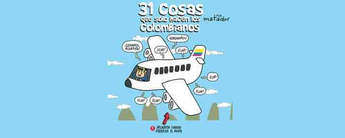 31 cosas que solo hacen los colombianos, según Matador