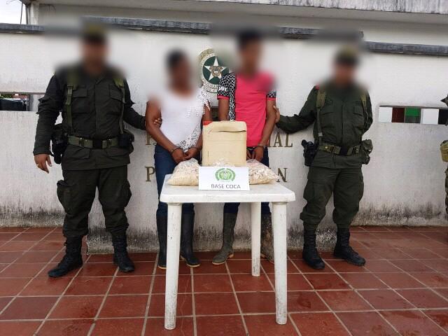 Capturadas 3 personas por porte de estupefacientes en el Putumayo