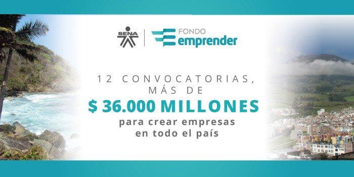 Fondo Emprender del SENA lanza convocatorias para emprendedores colombianos por $36 mil millones