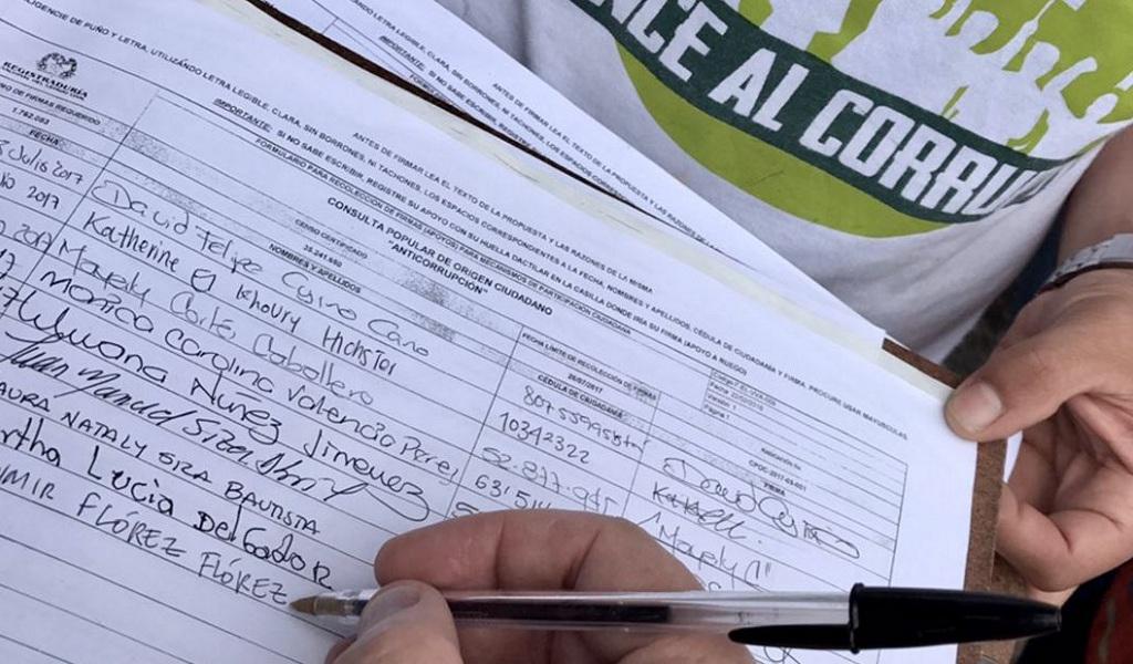 La Registraduría recibió más 4 millones de firmas de la consulta Anticorrupción