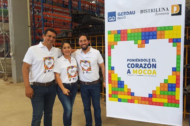 Juan Pablo Luna y Martha Bravo - Distriluna. Esteban Espinosa - Gerdau Diaco
