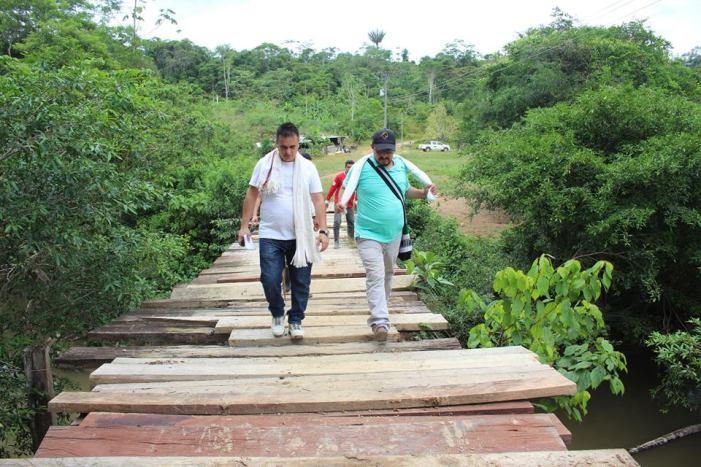 Puente sobre el río Caimán, lo que falta para conectar a Puerto Guzmán y Puerto Caicedo