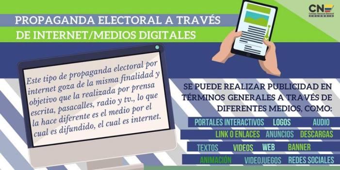 Propaganda electoral a través de internet / medios digitales