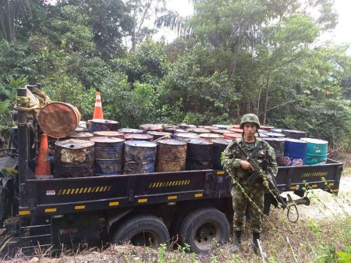 Neutralizada fuente ilegal de hidrocarburos en el Putumayo