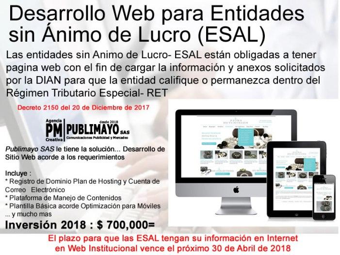 Desarrollo Web para Entidades sin Ánimo de Lucro (ESAL)