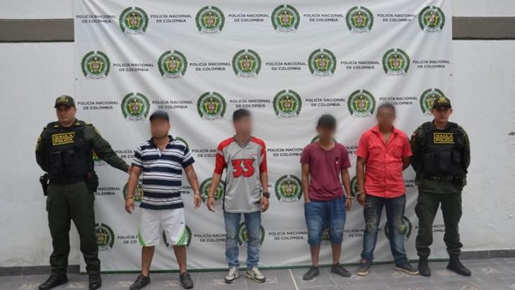 Capturados en flagrancia cuatro personas en Villagarzón por secuestro y extorsión