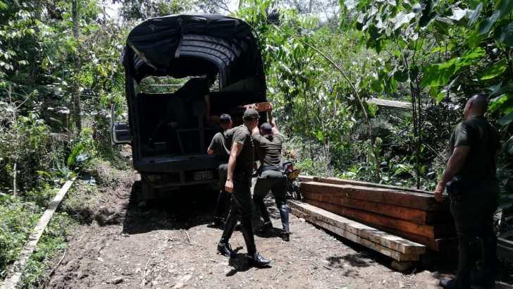 Incautados 9 mt3 de madera en Mocoa
