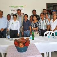 Gobernadora fortalece la producción cacaotera del departamento