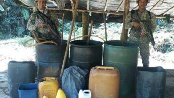 Destruidos seis laboratorios para el procesmiento de cocaína en el Putumayo