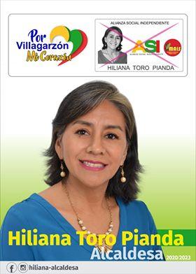 Hiliana Toro Pianda, con el respaldo de la gente de Villagarzón