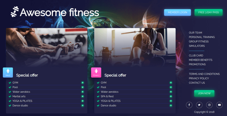 Awesome Fitness · World Gym | Fitness and Health