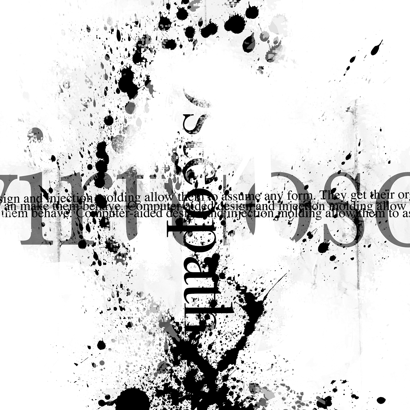 B W Abstract Typography Experiment On Behance
