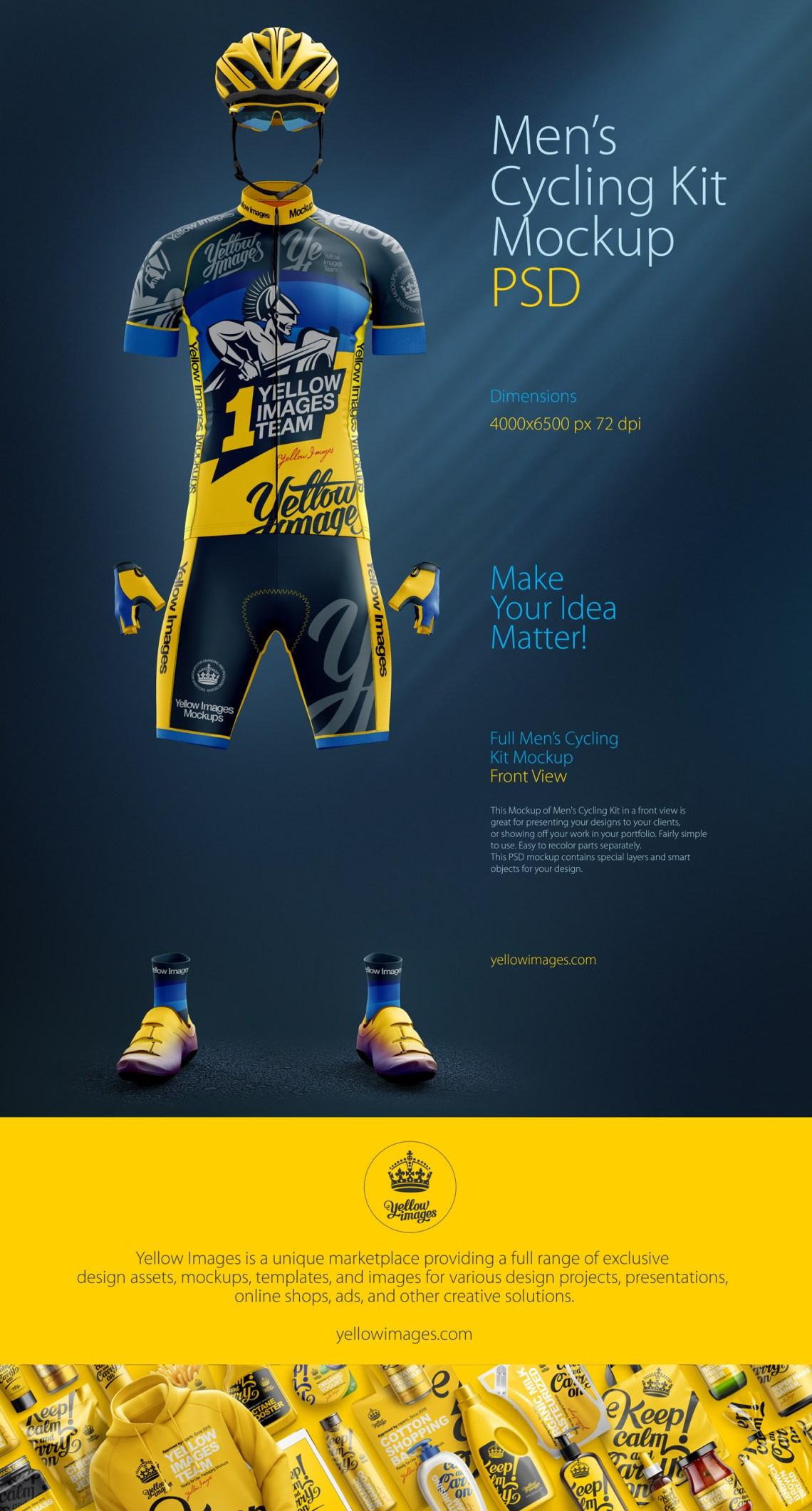 Download Men's Cycling Kit Mockup on Behance