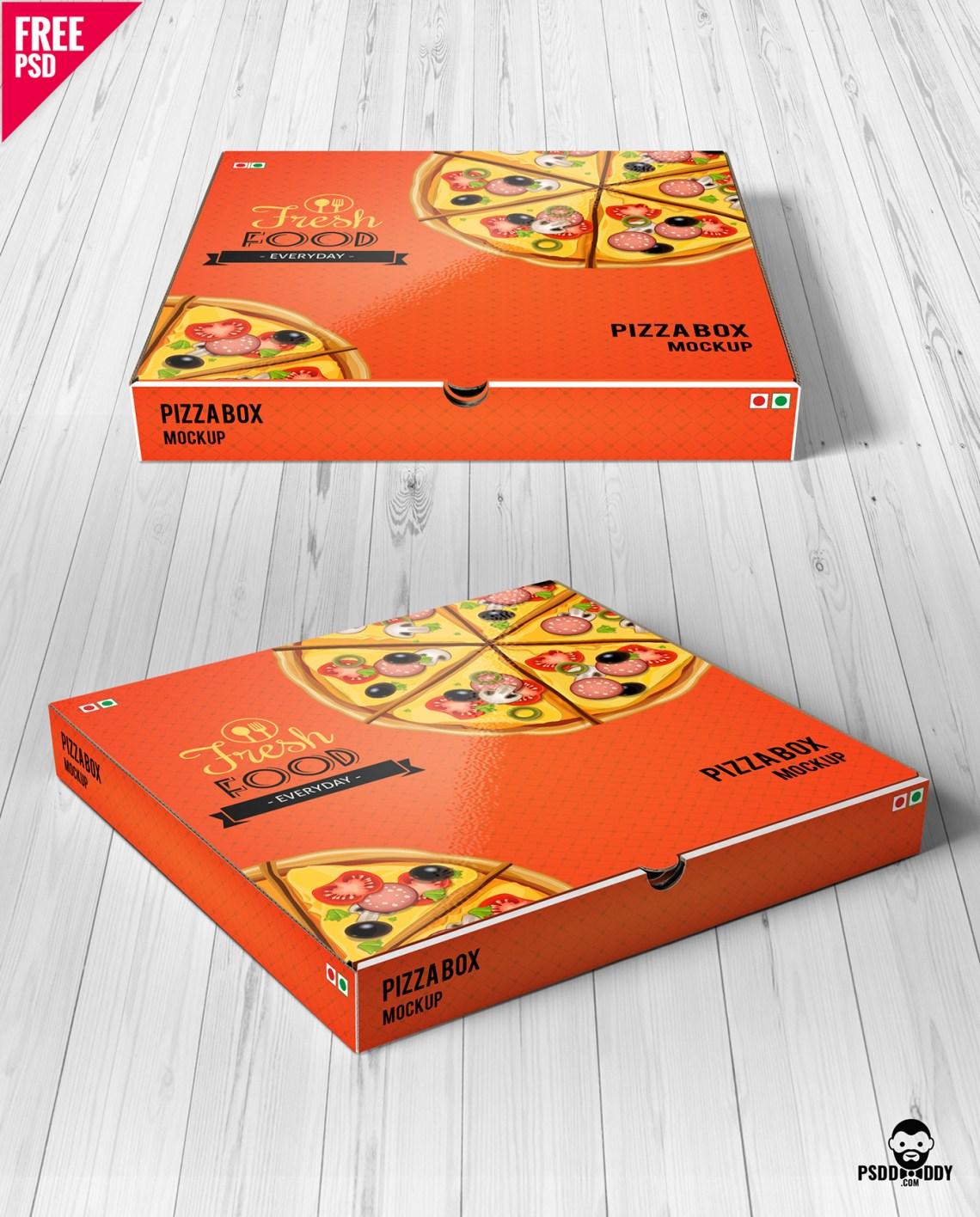 Download Pizza Box Mockup Free PSD on Behance