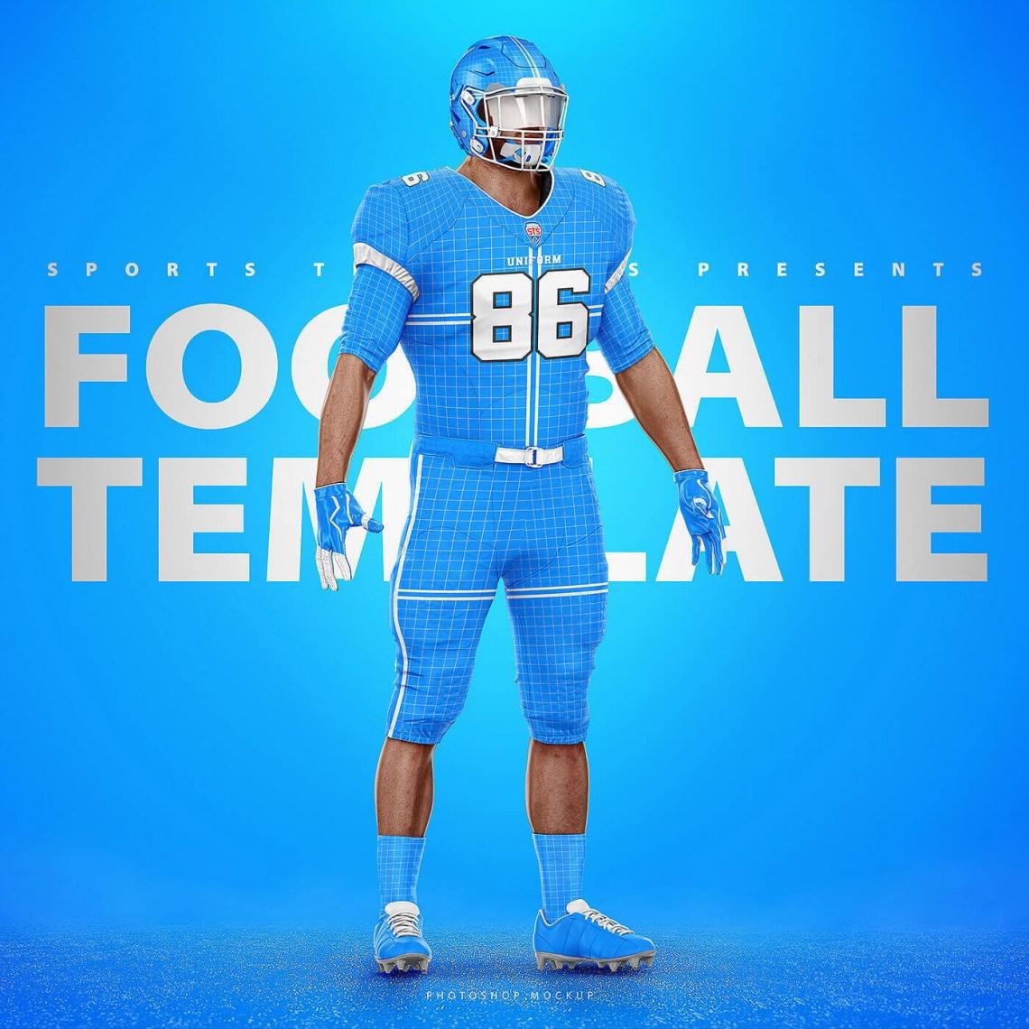 Download NFL FOOTBALL UNIFORM TEMPLATE MOCKUP V2.0 on Behance